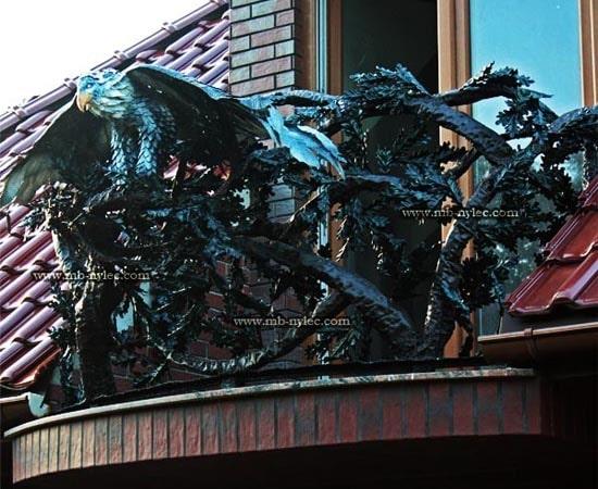 Balustrada myśliwska z orłem ba40