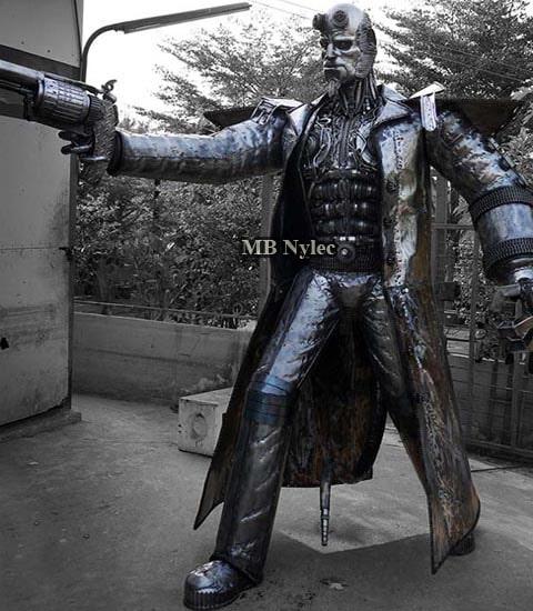 Hellboy-rzeźba figura ze stali