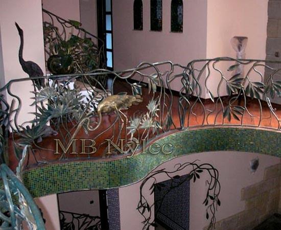 Metaloplastyka - balustrada z czaplami