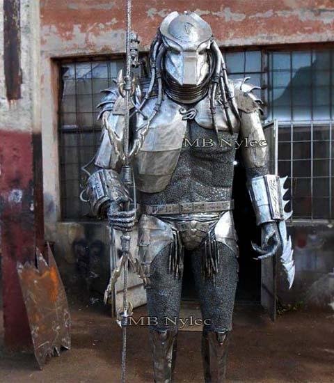 Predator-rzeźba ze stali-alien vs predator