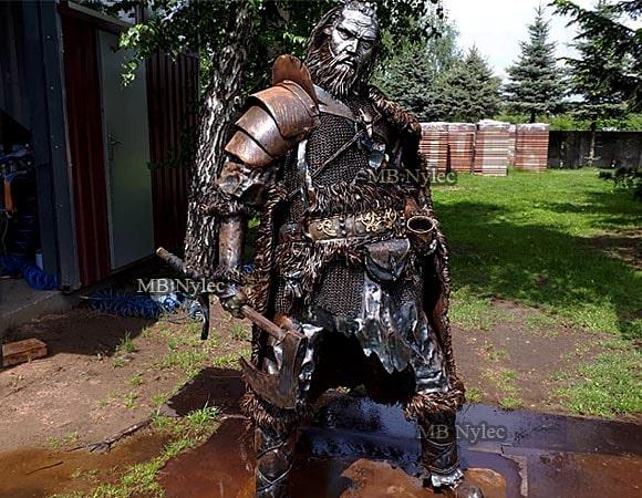 Wojownicy postacie figury z metalu