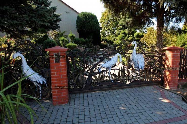 bramy kute z ptakami - kowalstwo artystyczne