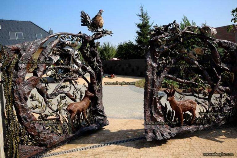 bramy - rzeźby z metalu bm36