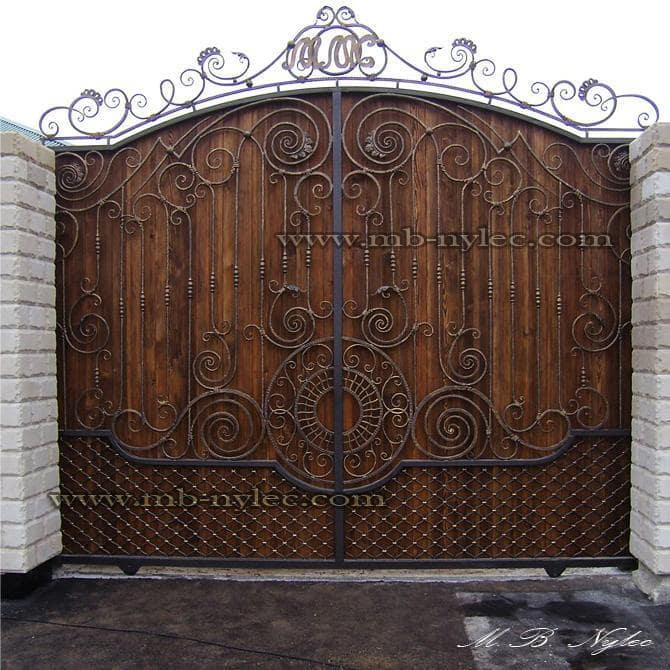 bramy stalowe z drewnem bm14