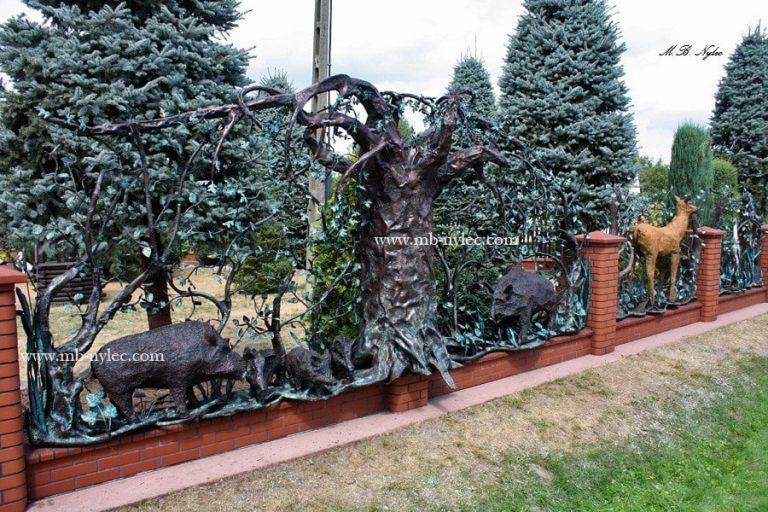 kute ogrodzenia myśliwskie - metaloplastyka