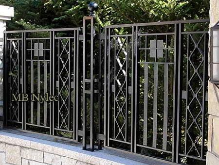 nowoczesne ogrodzenie kute bp217
