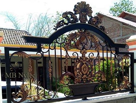ogrodzenie posesji w stylu orientalnym bp208