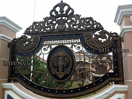 orientalne pałacowe ogrodzenie kute bp128b