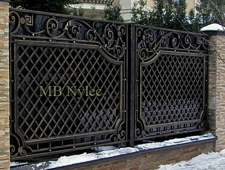 pełne ogrodzenie kute - kowalstwo artystyczne bp215