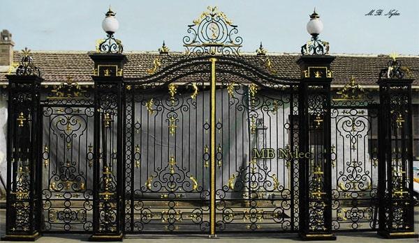zestaw bramowy w stylu pałacowym