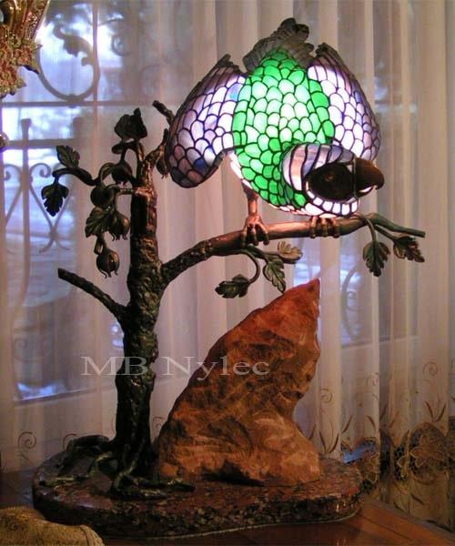 Ekskluzywna lampa wewnętrzna witrażowa