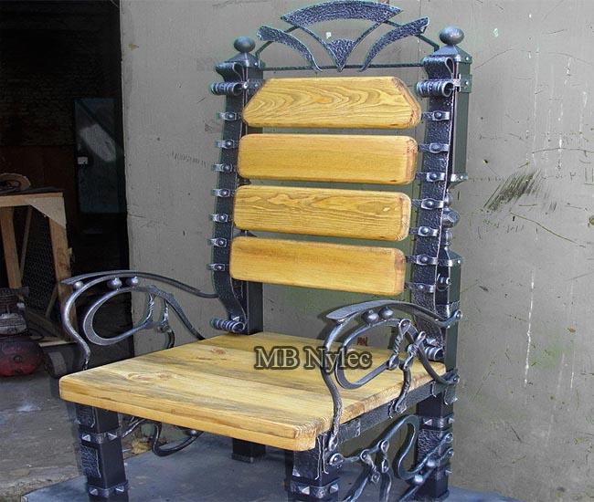 Fotel krzesło kute w stylu loft mk55