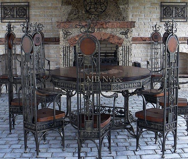 Komplet kutych mebli do zamku, pałacu mk29