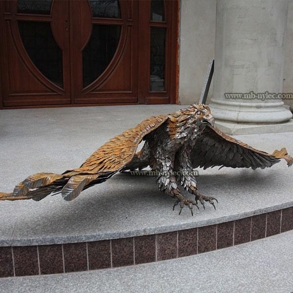 Orzeł ze stali figura z metalu z17