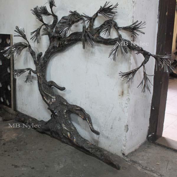 bonsai ze stali - drzewo z metalu - płaskorzeźba bonsai - metaloplastyka Dębica