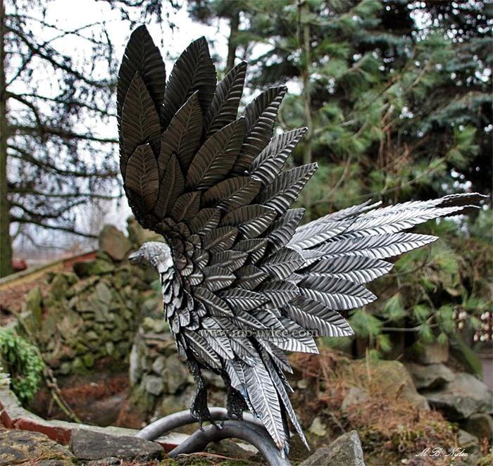 kaczki stalowe figury kaczek ze stali