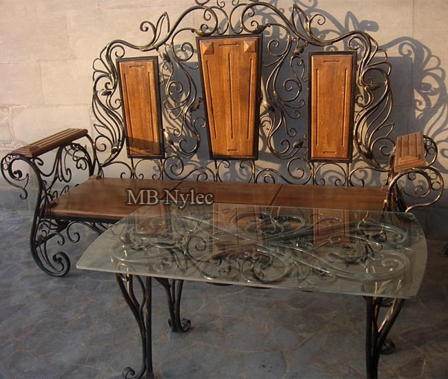 meble kute - komplet ławka ze stołem