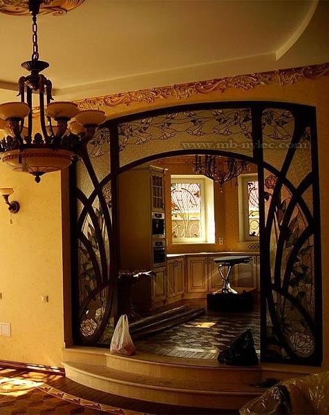 Ekskluzywny witraż drzwiowy