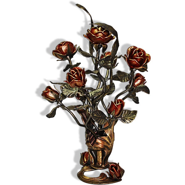 Stojący bukiet kutych róż rws5
