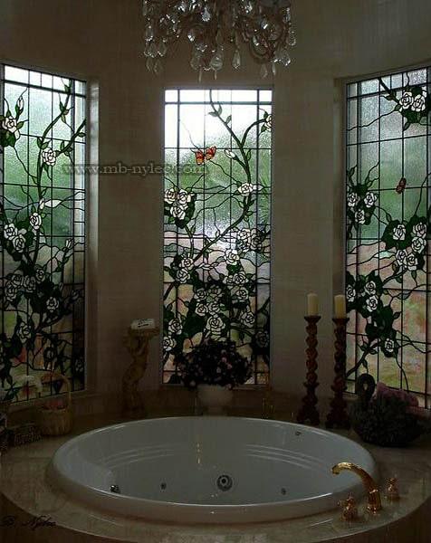 Witraże okienne do rezydencji dworu pałacu wdr5