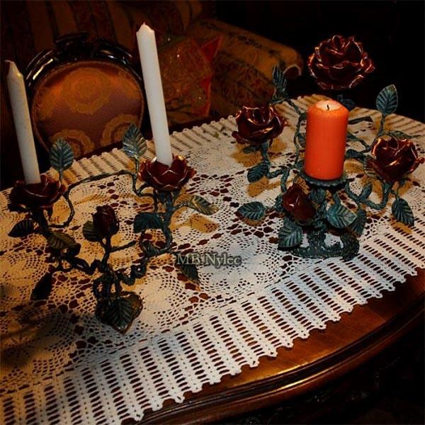 kuty świecznik z różami