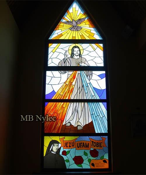 witraż do kościoła Jezus Miłosierny
