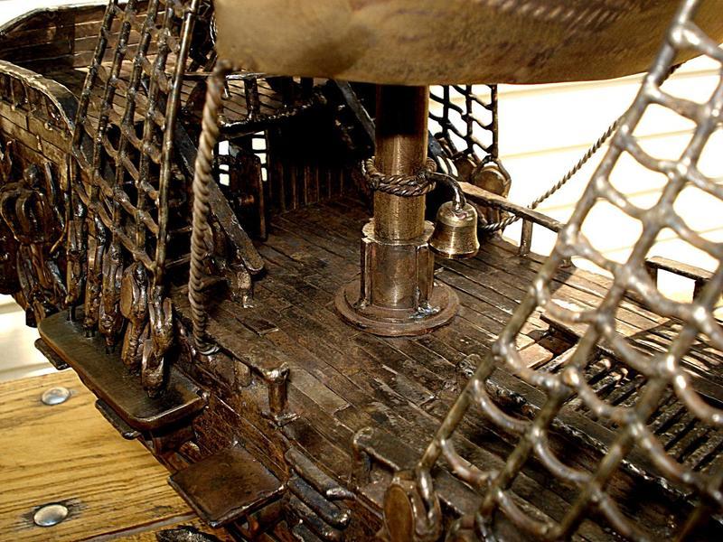 żaglowiec żaglówka rzeźba ze stali metaloplastyka