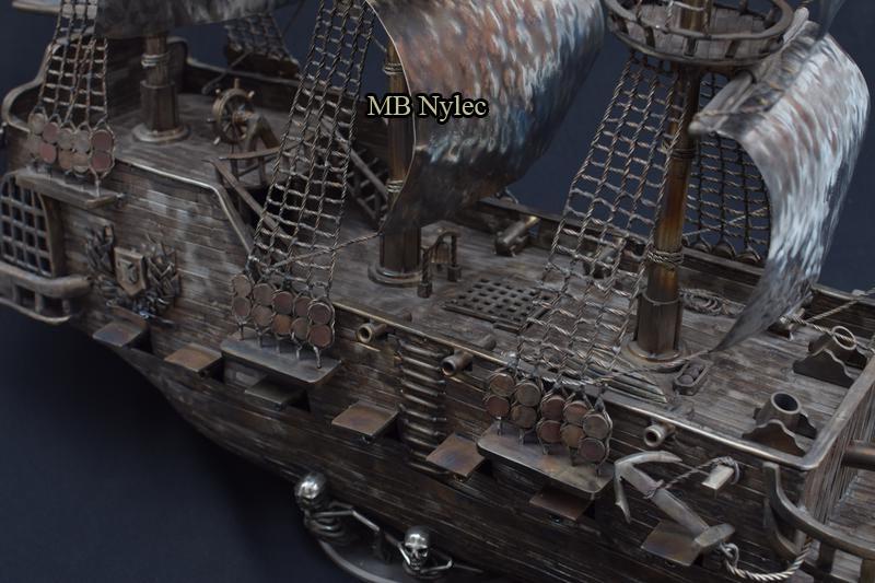 Statek piracki ranger - kowalstwo kute figury
