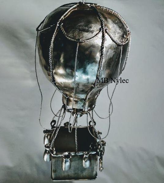 balon rzeźba ze stali nierdzewnej