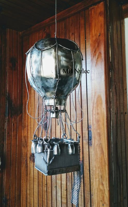 balon rzeźba ze stali