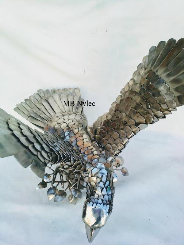 rzeźba ze stali inox metaloplastyka