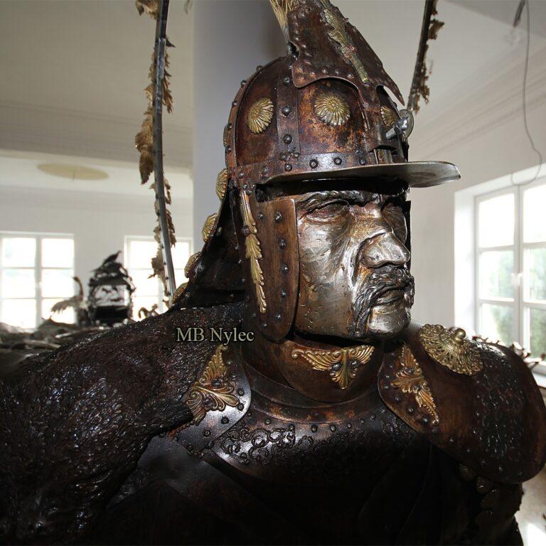 figury stalowe huzar husarz husaria
