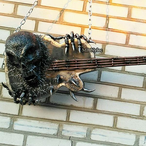 gitara kuta ozdoba loft na ścianę
