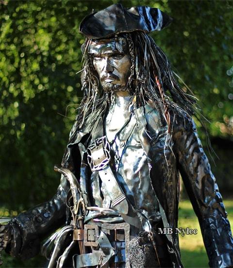 Jack Sparrow figura ze stali Johnny Depp Metaloplastyka