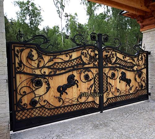 Ekskluzywna brama drewniana