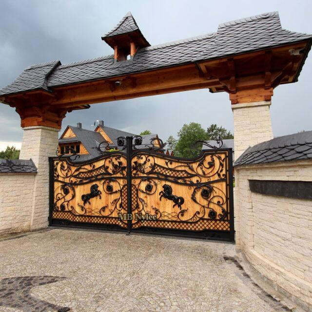 drewniane bramy