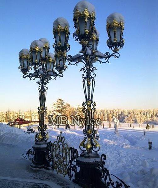 pałacowa lampa ogrodowa